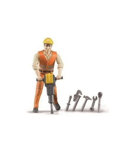 CONSTRUCTION WORKER WITH ACCESSORIES 116 SCALE