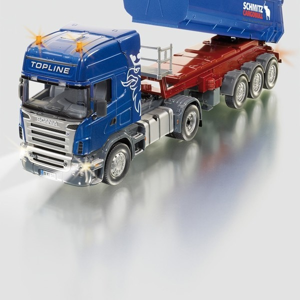 SIKU REMOTE CONTROLLED SCANIA WITH TIPPING TRAILER 1:32 SCALE