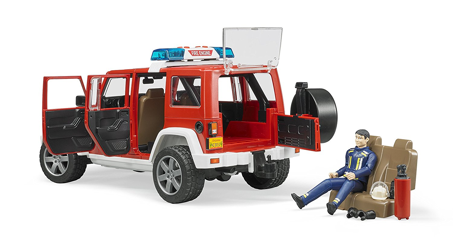 Kavanaghs Toys Bruder Jeep Wrangler Rubicon Fire Vehicle